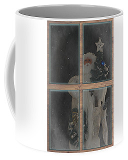 Father Christmas In Window Coffee Mug