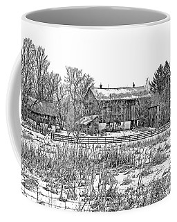 February Farm Bw  Coffee Mug