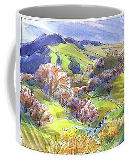 February Landscape With Mount Diablo Coffee Mug