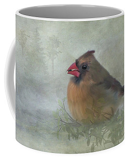Female Cardinal With Seed Coffee Mug