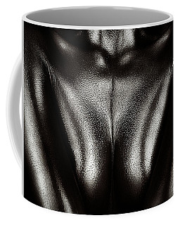 Female Nude Silver Oil Close-up 2 Coffee Mug