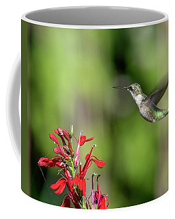 Female Ruby-throated Hummingbird Dsb0320 Coffee Mug