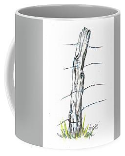 Fence Post Colored Pencil Sketch  Coffee Mug