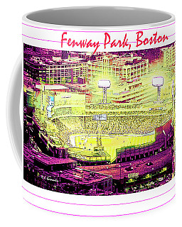 Fenway Park Boston Massachusetts Digital Art Coffee Mug