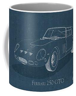 Ferrari 250 Gto - Blueprint Coffee Mug
