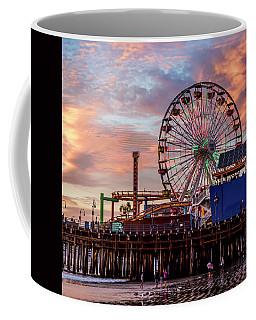 Ferris Wheel On The Pier - Square Coffee Mug