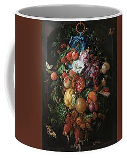 Festoon Of Fruit And Flowers, 1670 Coffee Mug