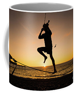 Fiddle Playing At Sunset In Aberystwyth Coffee Mug