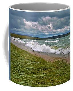 Field Of Green On Lake Superior Coffee Mug