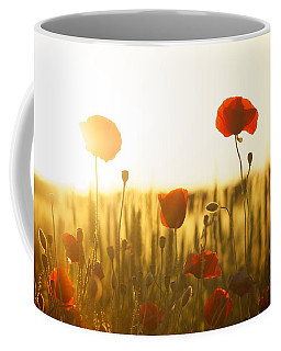 Field Of Poppies At Dawn Coffee Mug