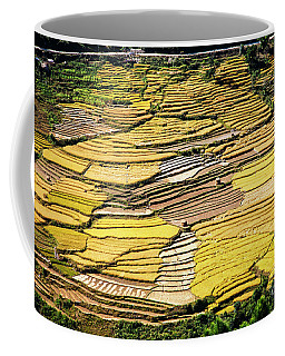 Coffee Mug featuring the photograph Fields Of Rice by Scott Kemper