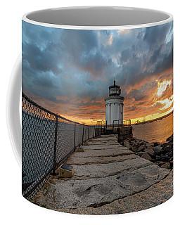 Fiery Skies At Bug Light Coffee Mug