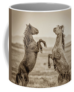 Fighting Stallions 2 Coffee Mug