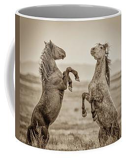 Fighting Stallions 2 Coffee Mug