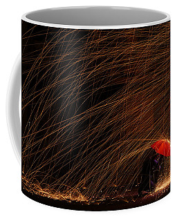 Coffee Mug featuring the photograph Fighting The Rain by Richard Reeve