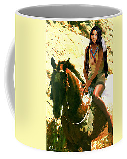 Fine Art Digital Portrait Cher Half Breed B Detail3 Coffee Mug