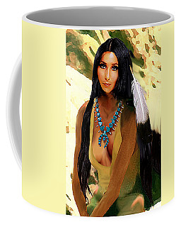Fine Art Digital Portrait Cher Half Breed B Detail3b Coffee Mug