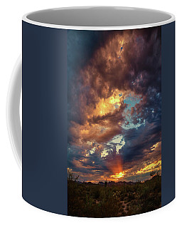 Finger Painted Sunset Coffee Mug