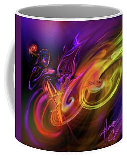 Cellist In Space Coffee Mug