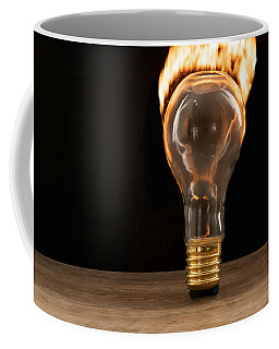 Fire And Flames Ignited Out Of Light Bulb Coffee Mug