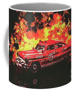 Vintage Fire Truck Photographs Coffee Mugs
