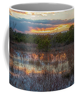 Fire In The Sky Over The Pines Coffee Mug