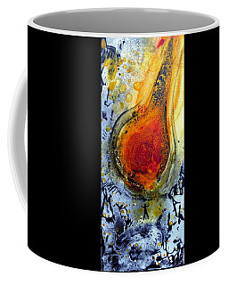 Coffee Mug featuring the painting Fireball by 'REA' Gallery