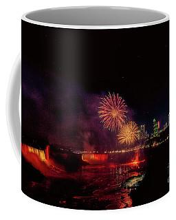 Fireworks Over The Falls. Coffee Mug