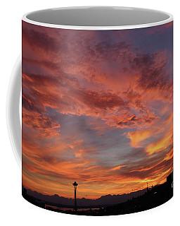 Firey Red Seattle Sky Coffee Mug