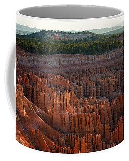 Coffee Mug featuring the photograph First Light On The Hoodoo Inspiration Point Bryce Canyon National Park by Nathan Bush