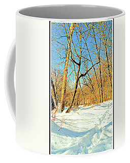 First Tracks In New Snow Coffee Mug
