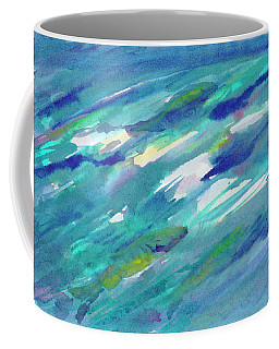 Coffee Mug featuring the painting Fish In Water by Dobrotsvet Art