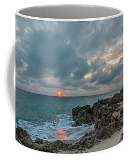 Fisherman On Rocks Coffee Mug
