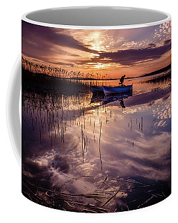 Fisherman On The Boat Coffee Mug
