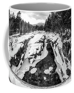 Coffee Mug featuring the photograph Fisheye View, Rocky Gorge Nh by Michael Hubley