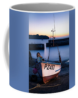 Fishing Boat In Mullion Cove Coffee Mug