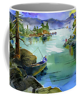 Fishing Lake Tahoe Coffee Mug