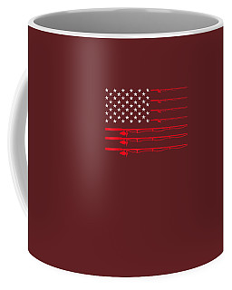 Fishing Rod T Shirt American Usa Flag - Fisherman Gift Idea Coffee Mug