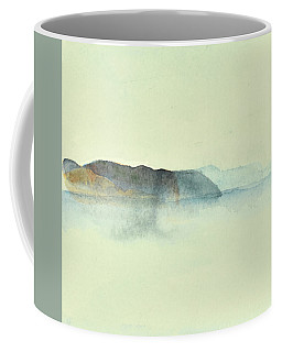 Fiske I Morgondis Hunnebo Vaestkusten   Fishing In Morning Haze Hunnebo Swedish Archipelago 76x73cm  Coffee Mug