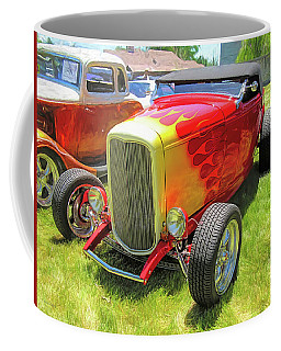 Flamed Red 1932 Ford Roadster Coffee Mug