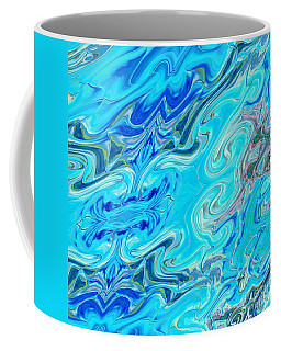 Coffee Mug featuring the digital art Fleurs Dans Les Vagues by A zakaria Mami