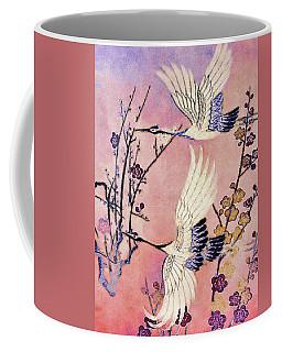 Flight Of The Cranes - Kimono Series Coffee Mug