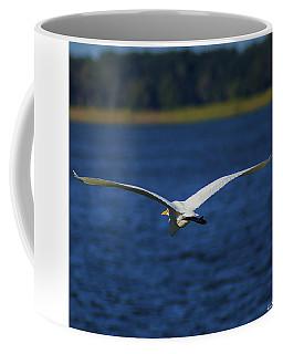 Flight Of The Egret Coffee Mug