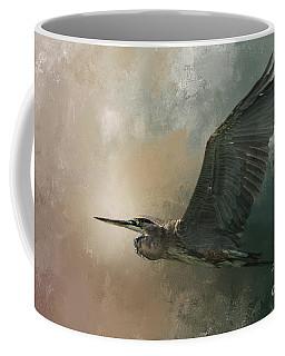 Flight Of The Great Blue Coffee Mug