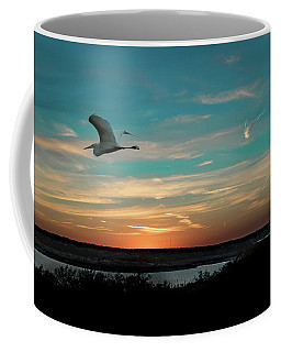 Flight To The Lake Coffee Mug
