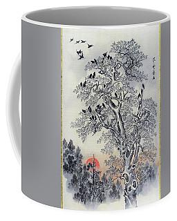 Flock Of Crows At Dawn - Digital Remastered Edition Coffee Mug