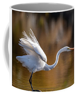 Floofy Egret Coffee Mug