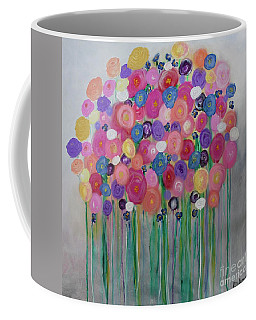 Floral Balloon Bouquet Coffee Mug