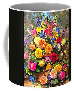Floral Bouquet In Acrylic Coffee Mug