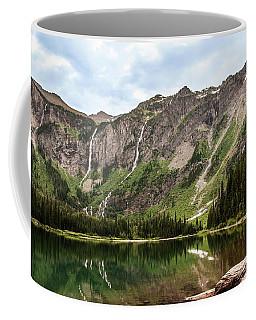 Floral Park Falls Monument Falls Avalanche Basin Falls Across Avalanche Lake Glacier National Park Coffee Mug